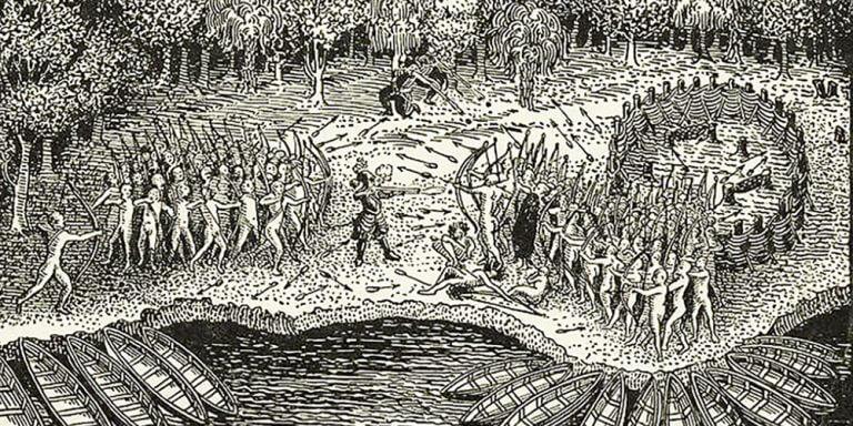 Defeat Iroquois Champlain