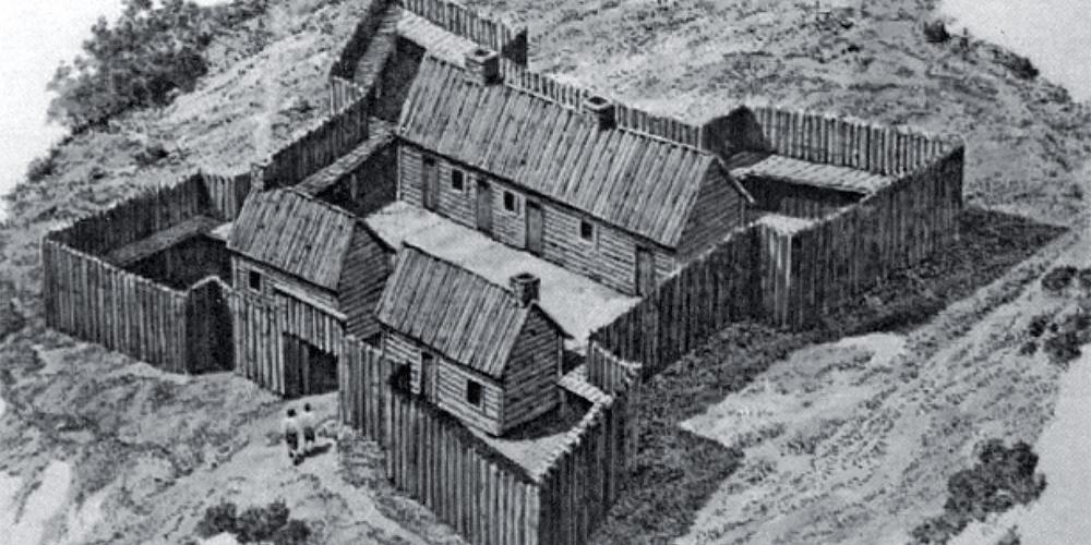Fort de pieux - Chimney Point