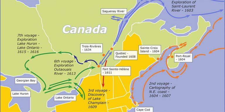 map Samuel de Champlain