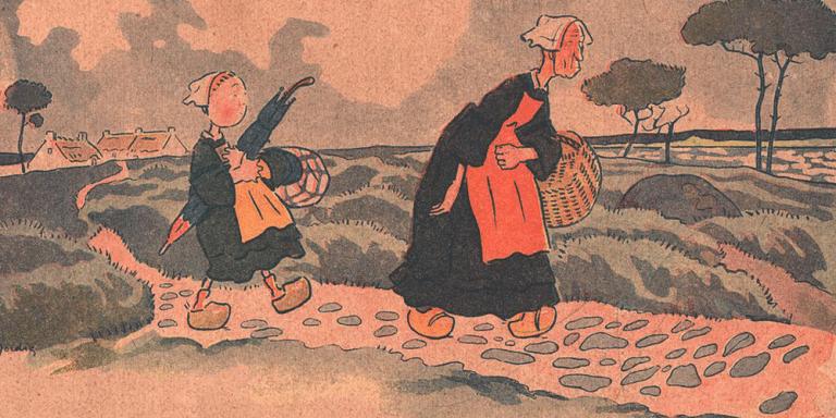 Marie aux sabots de bois bretons