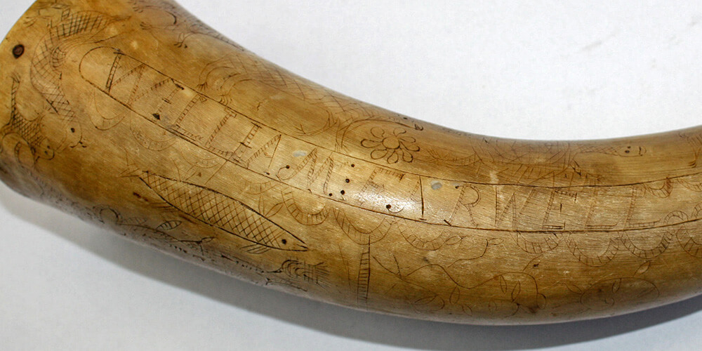 William Farwell powder horn