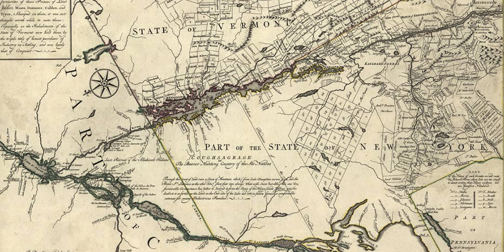 Map of Vermont 1780