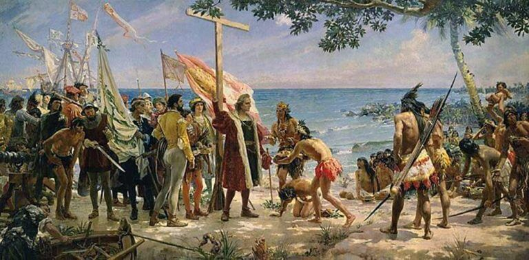The_arrival_of_Christopher_Columbus_to_America,_1492