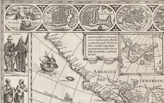 Willem Blaeu Americae Nova Tabula