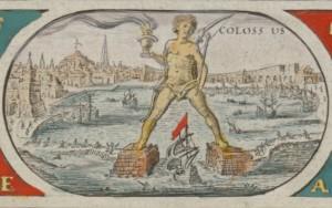 Willem Blaeu's map - Rhodes Colossus