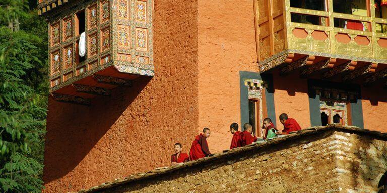 Monastery monks Bhutan