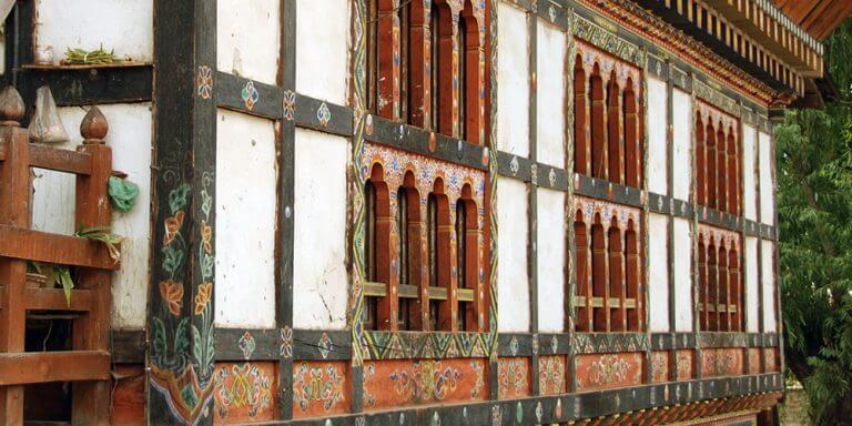 Bhutanese painted houses