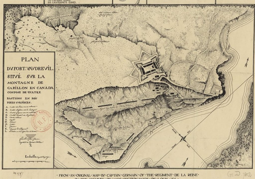 map fort Vaudreuil Carillon